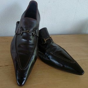Mare Uomo Super Pointy Chocolate Brown Shoes Sz10